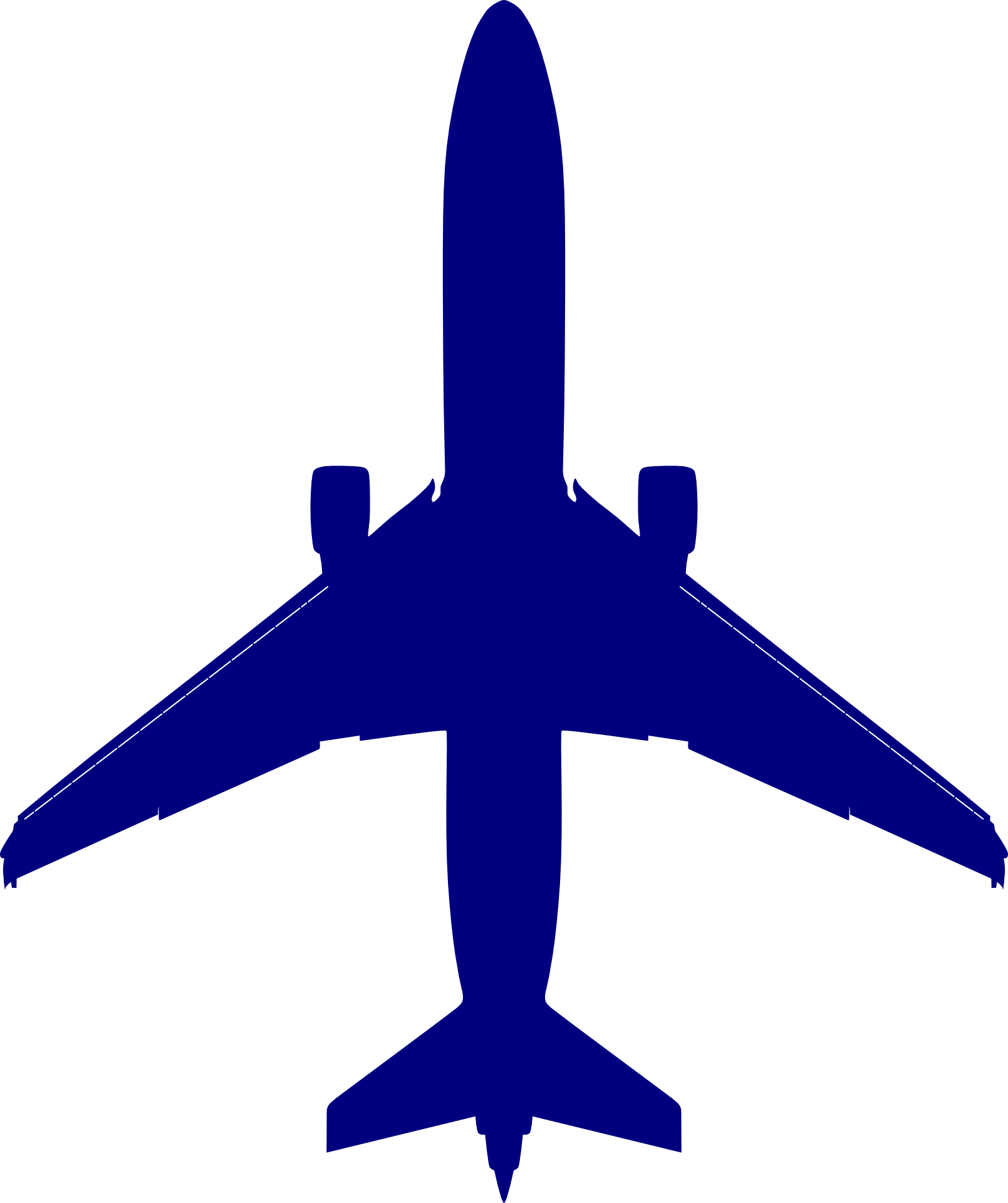Blue airplane. Clipart free image