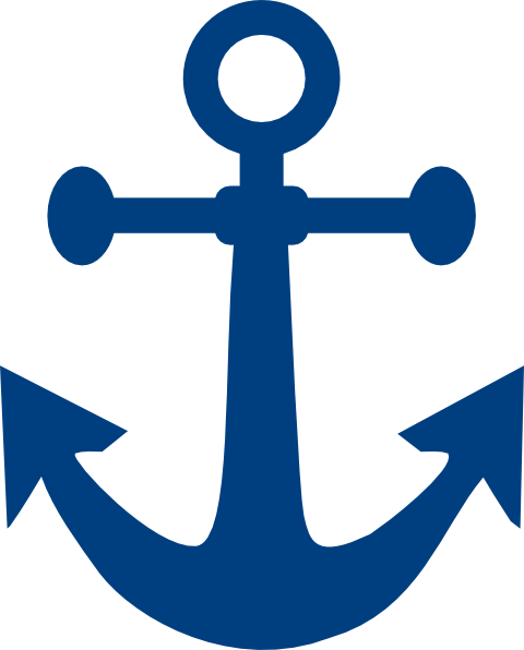 Blue anchor png