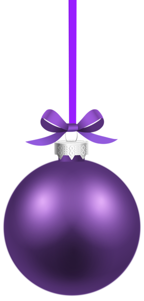 Blue and silver ornaments png. Purple christmas hanging ball