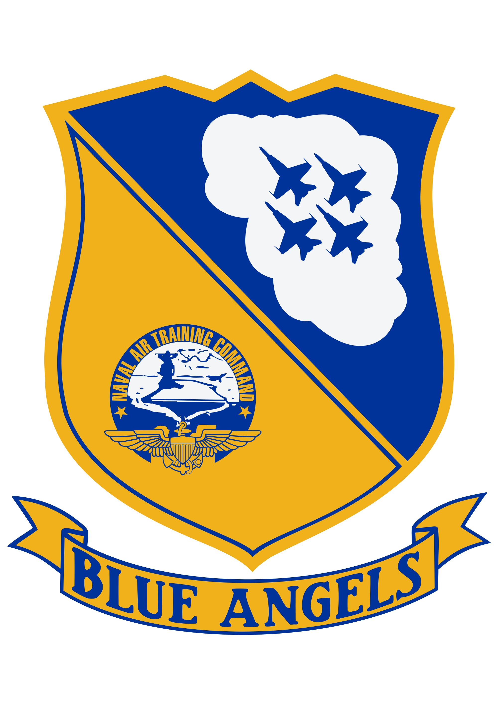 File angels insignia svg. Blue crest png free stock