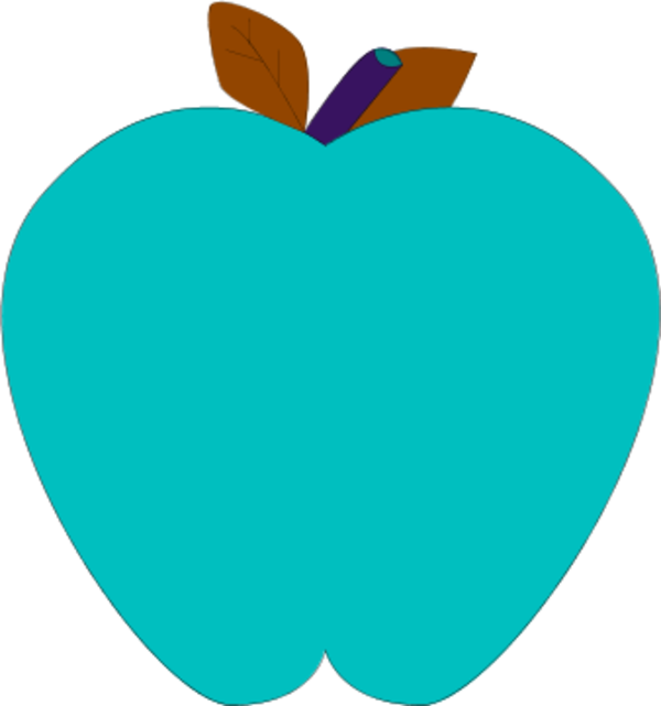 Blue apple. Clipart downloadclipart org