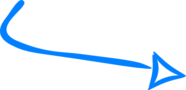 blue curved arrow png