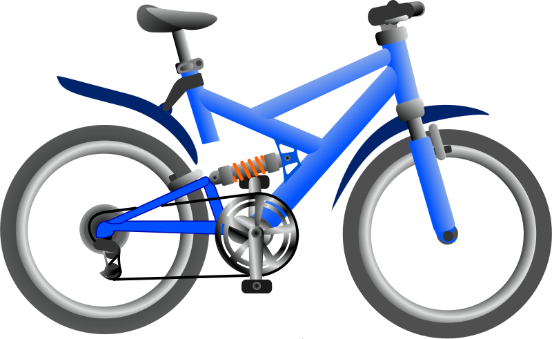 Blue bicycle. Free clipart bike anonymous