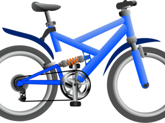 Blue bicycle. Pushbike clipart free download