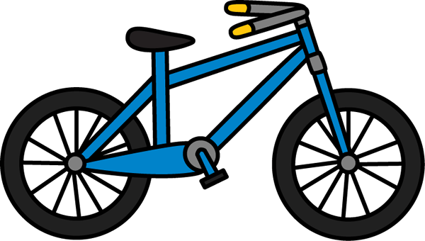 Blue bicycle. Cliparts zone
