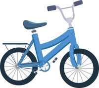 Blue bicycle. Clipart