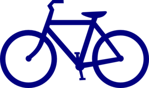 Blue bicycle. Free cliparts download clip