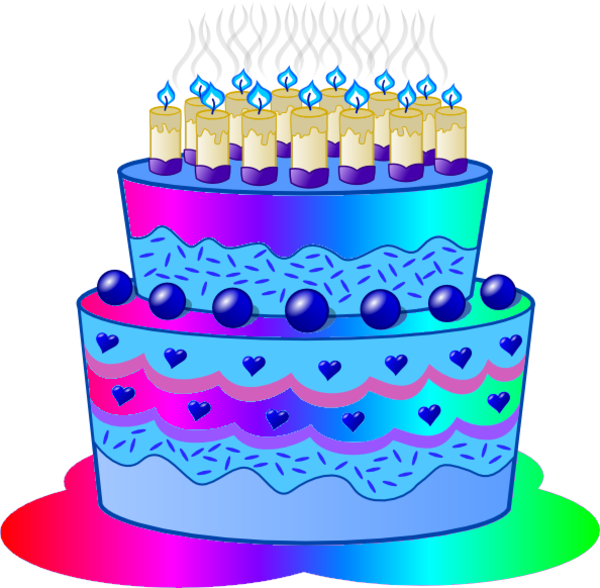 Blue birthday cake png. D free images at