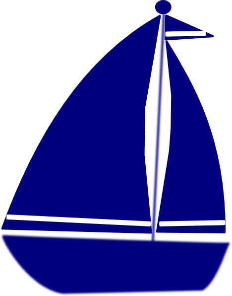 Medium sailboat. Blue clipart free download