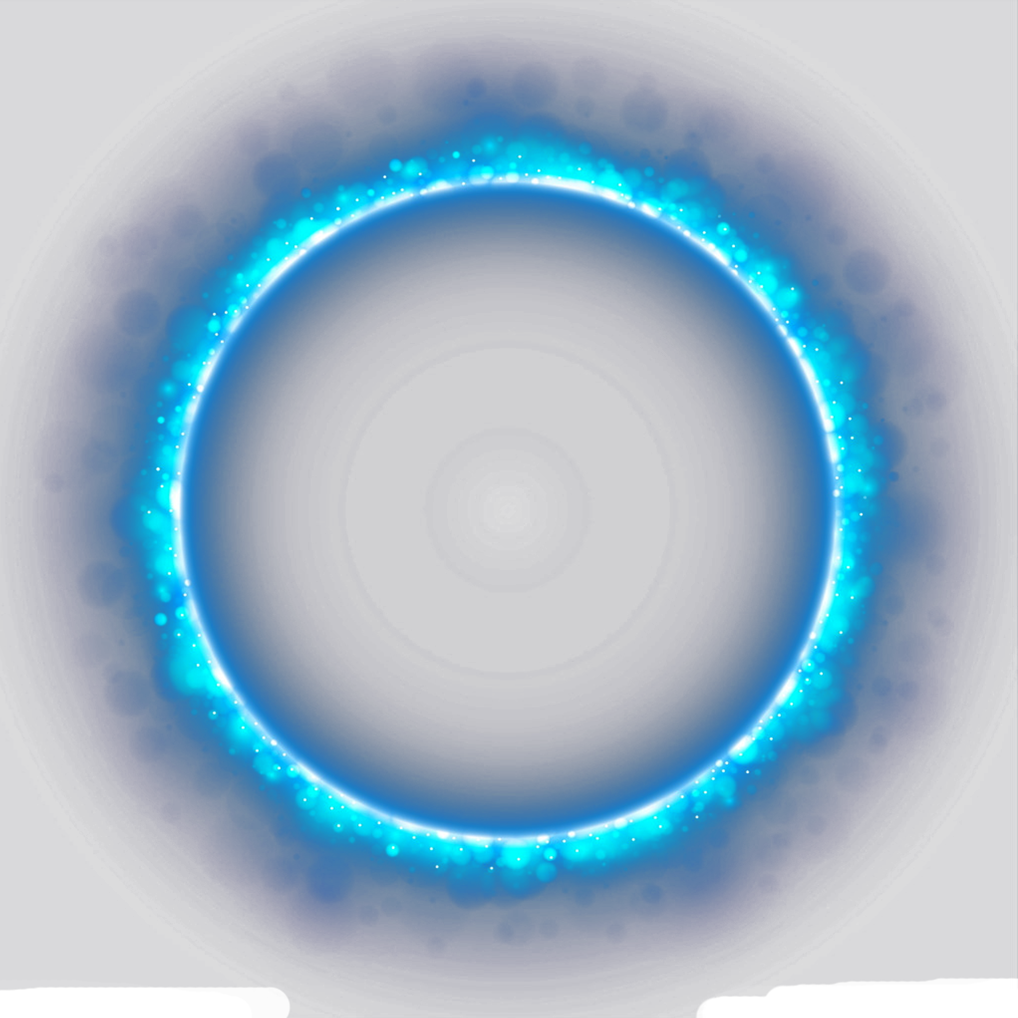 Circle glow png. Blue glitter frame with