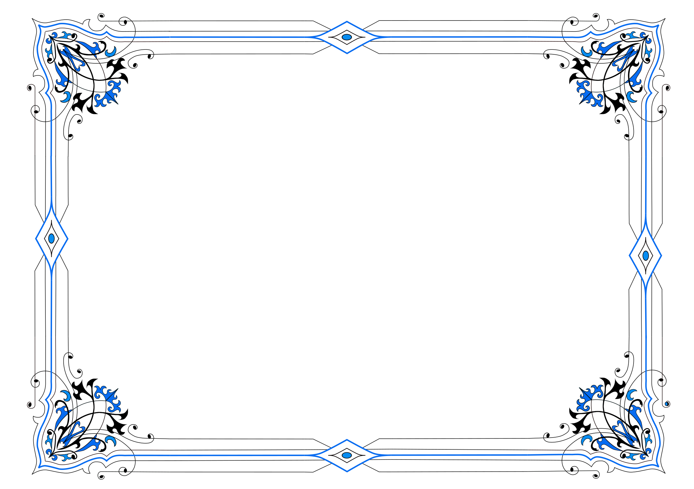 Blue borders png. Border variation in icons
