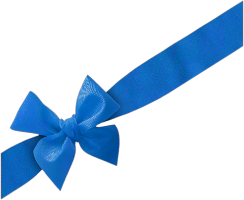 Blue bow png. Image