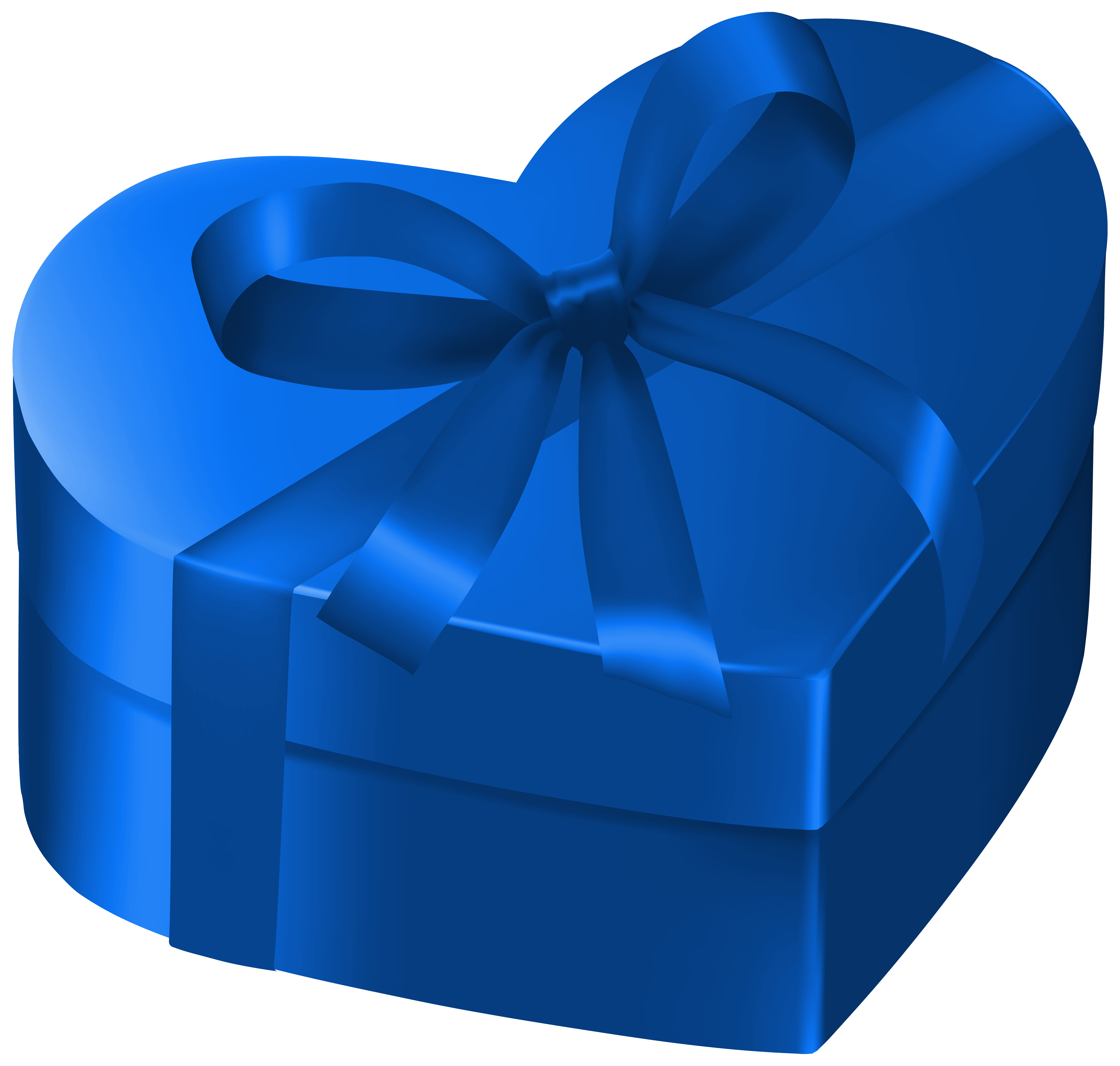 Blue box png. Heart gift clipart image