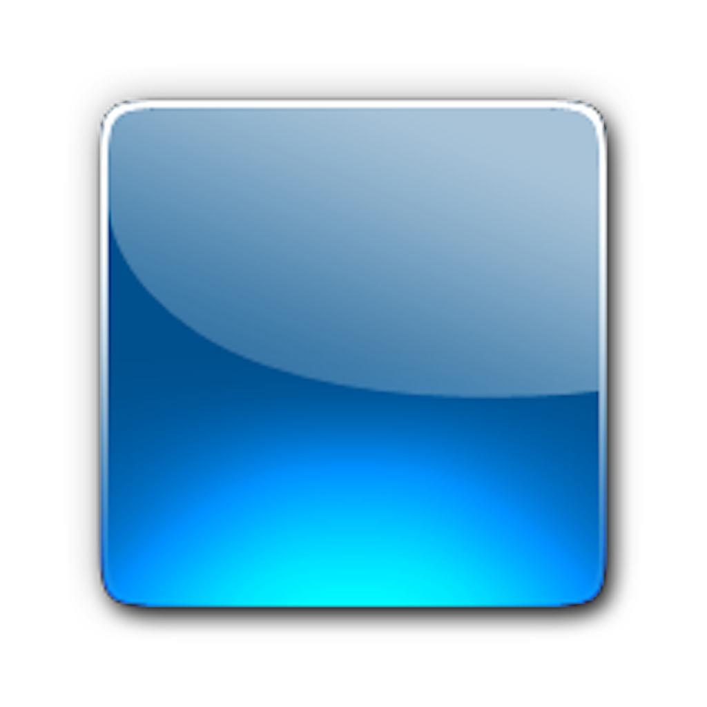 Blue Button Icon Png