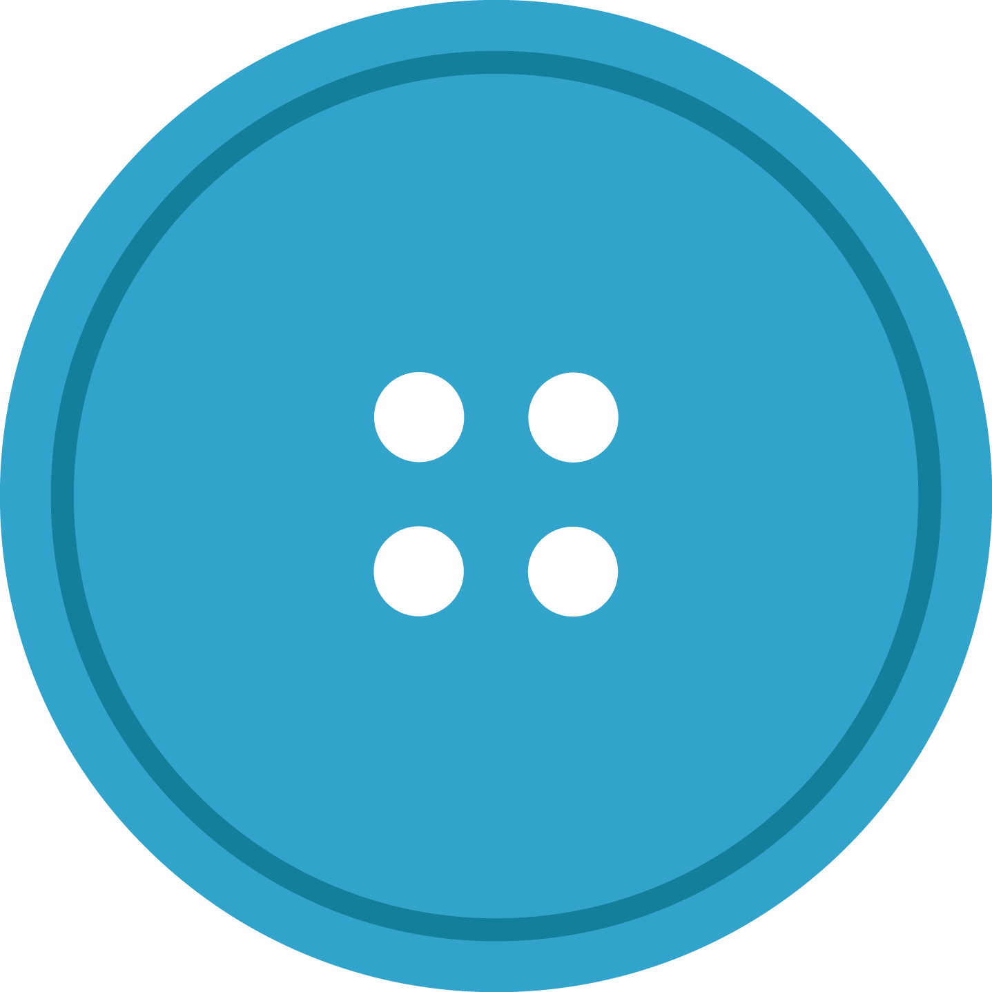 Sewing button png. Blue round cloth with