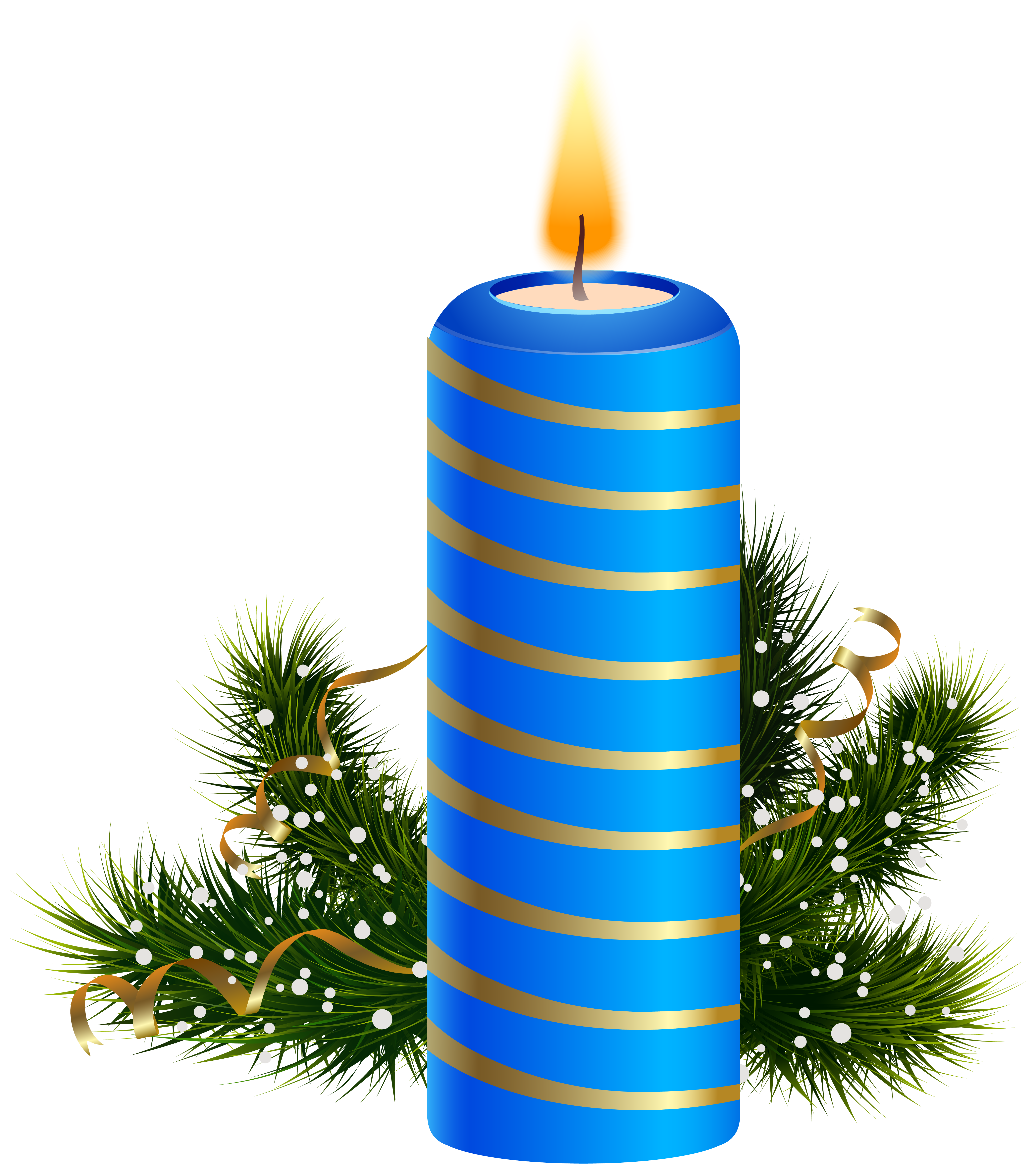 Silver christmas candles png. Blue candle clipart image