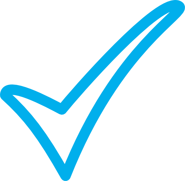 Vector checkmark correct. Blue tick clip art