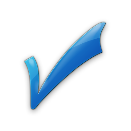 Blue checkmark png. Free icons and backgrounds