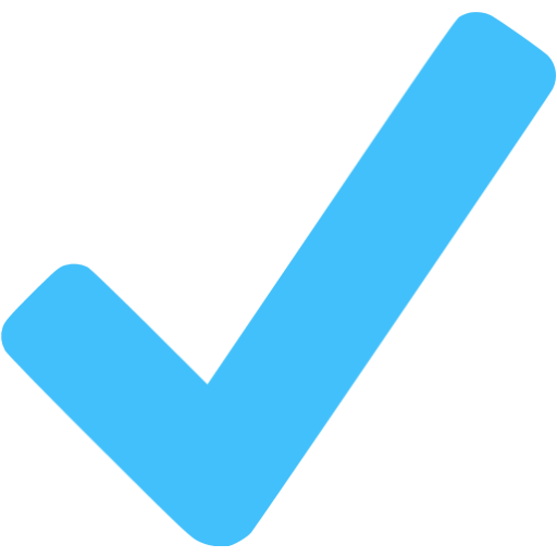 Blue checkmark png. Caribbean icon free check