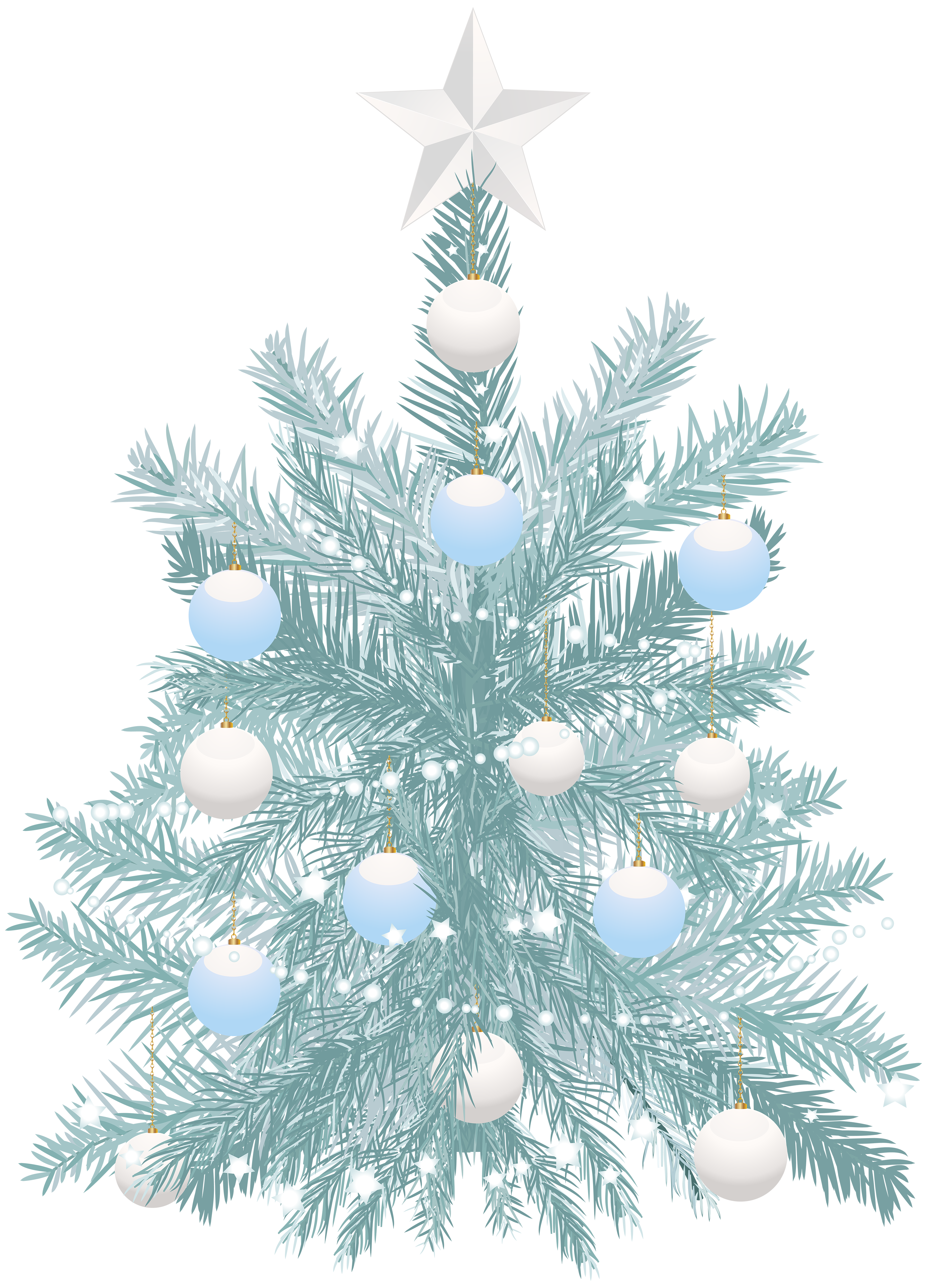 Blue christmas tree png. Transparent clip art gallery