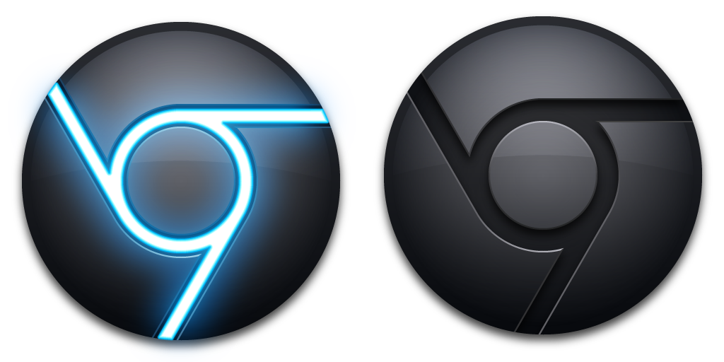 Png chrome button. Icon blue black mkii