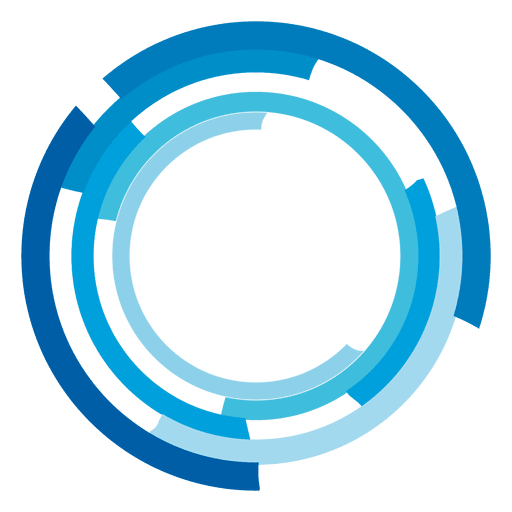 Blue circles png. High tech rings logo