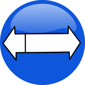 Blue clip. Bidirectional arrows art at image free download
