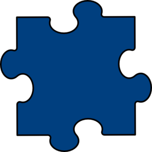 Blue clip deep. Puzzle piece art at graphic royalty free library
