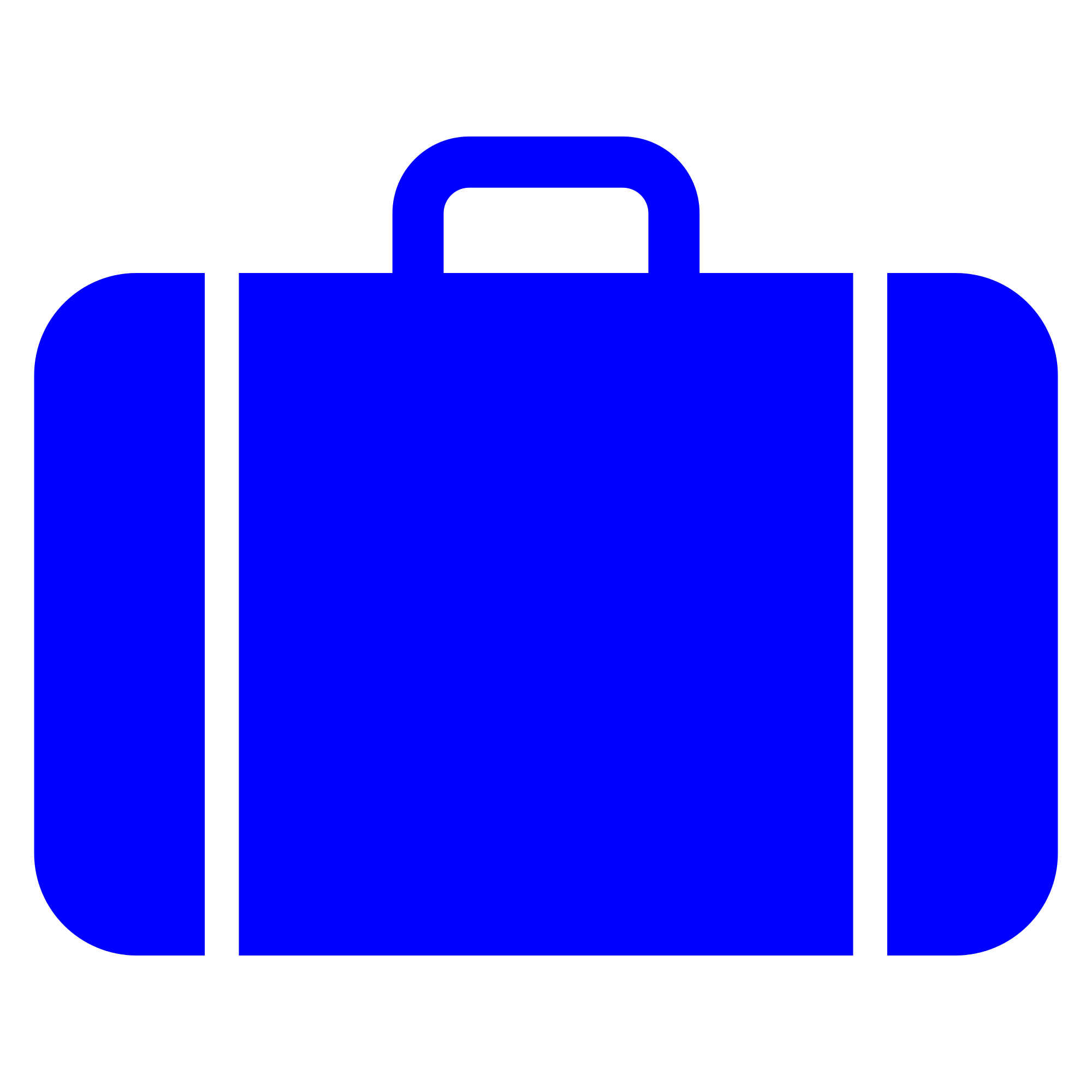 luggage vector blue