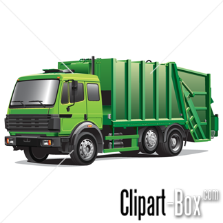 blue clipart garbage truck