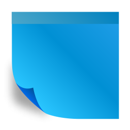 Blue sticky note png. Notes images free download