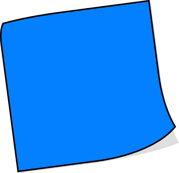 Blue clipart sticky note. Clip art at clker