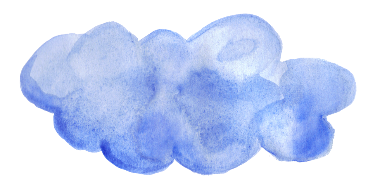 Watercolor clouds png. Blue transparent onlygfx
