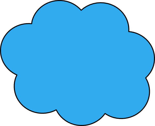 Blue cloud png. Clip art at clker