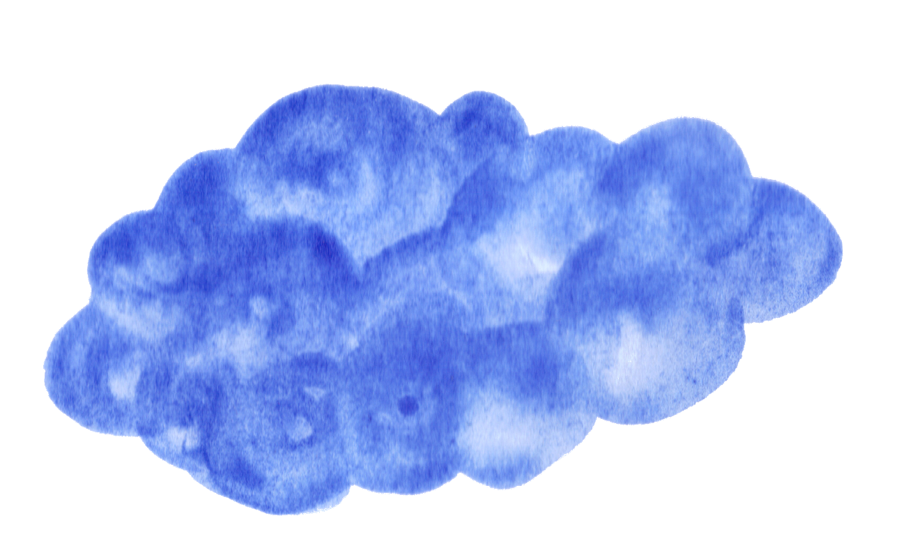 Blue cloud png. Watercolor clouds transparent
