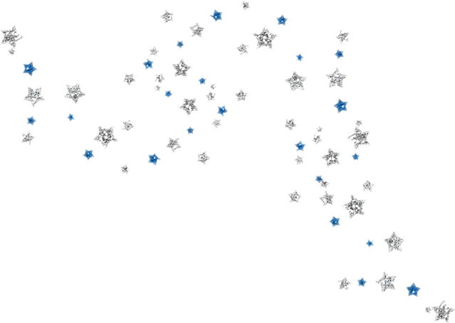 Blue confetti png. Silver stars bling report