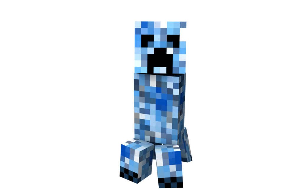 Blue creeper png. Majestic mana minecraft by