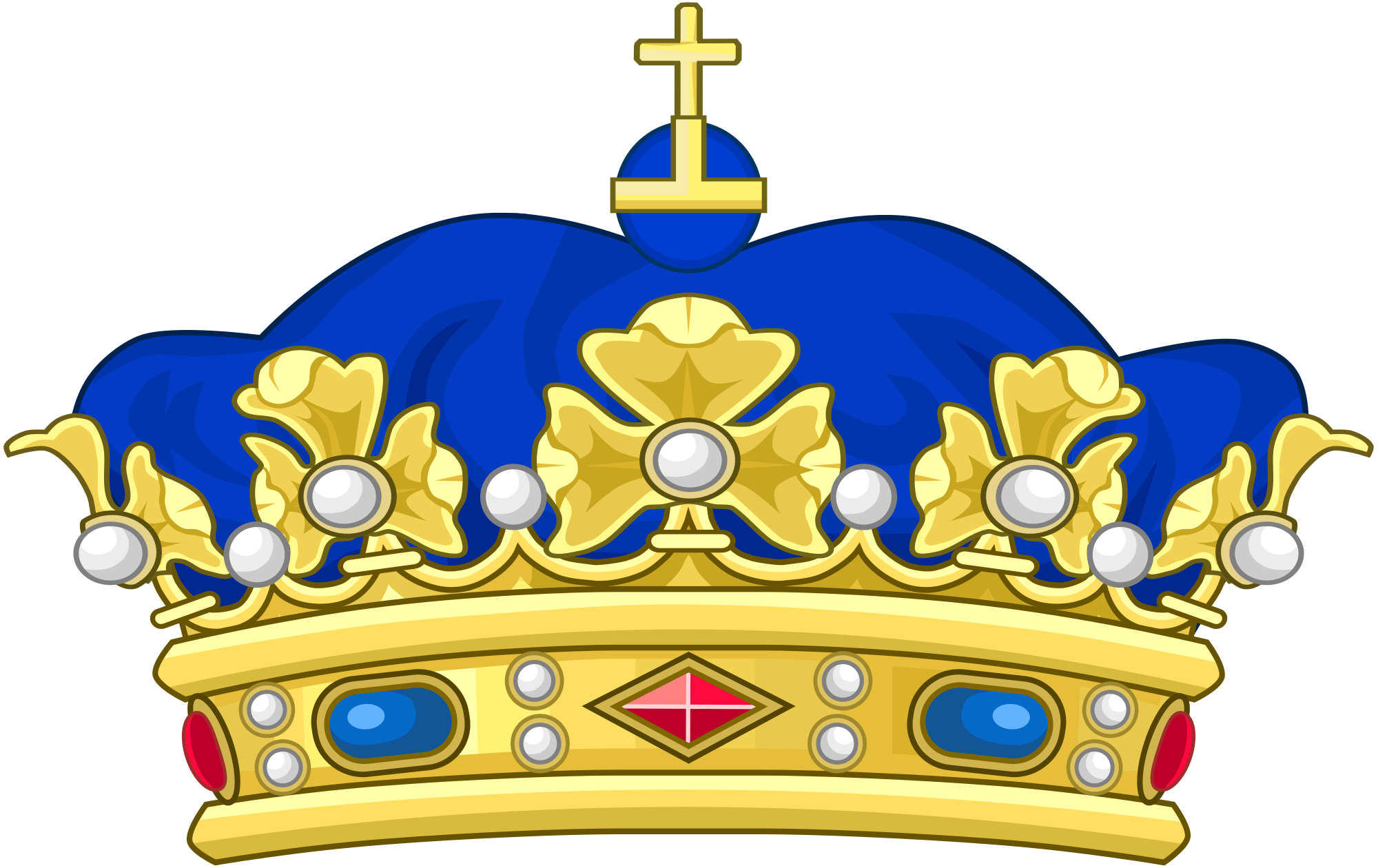 Blue crown png. File of a napoleonic