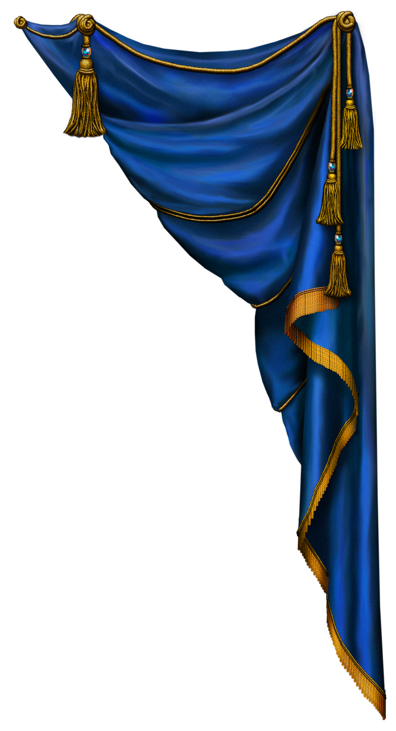 Blue curtain png. Transparent clipart gallery yopriceville