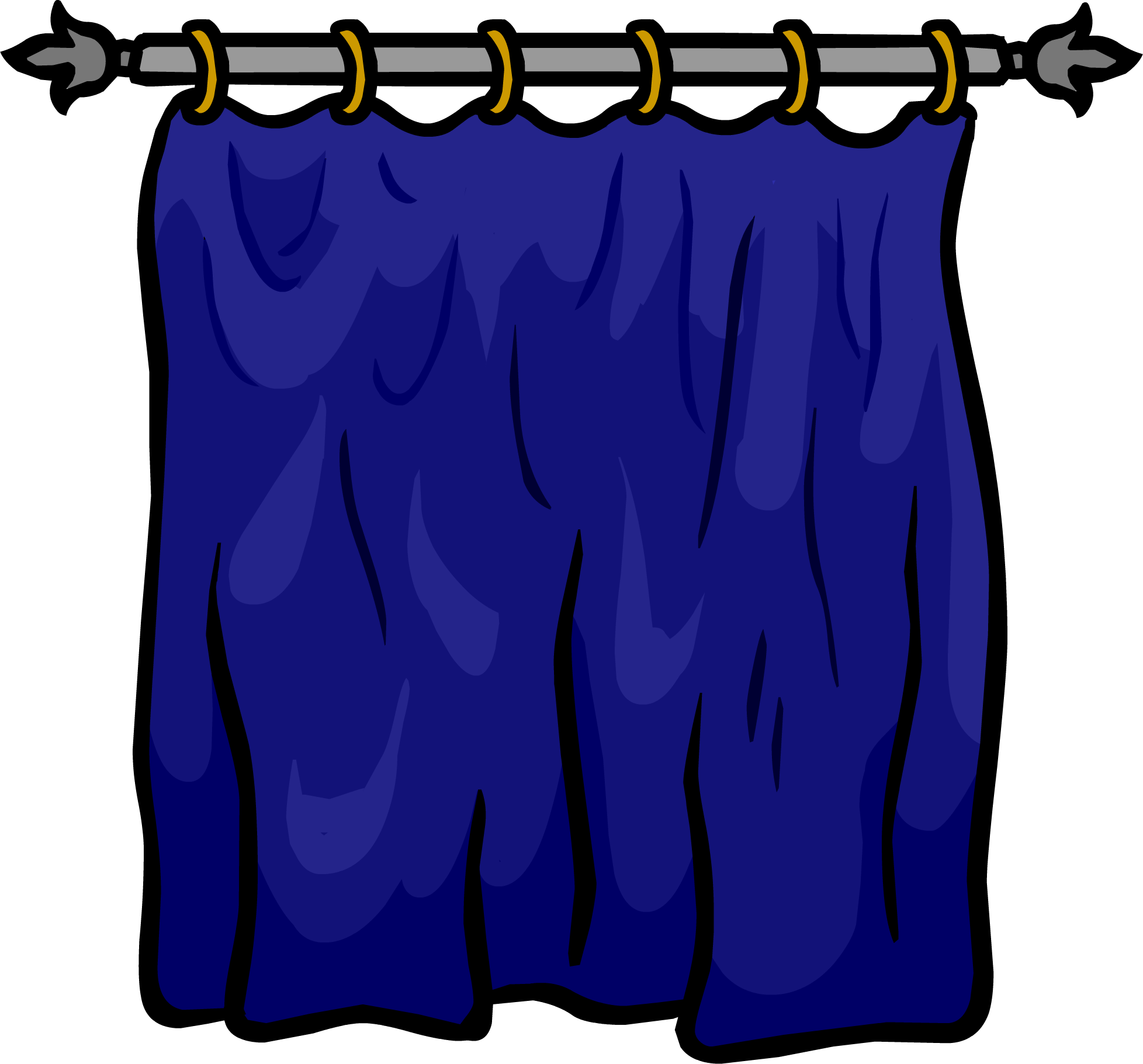 Blue curtains png. Image curtain club penguin