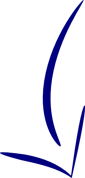 Blue curved arrow png. Clip art at clker