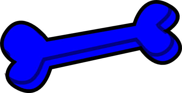 blue dog bone png