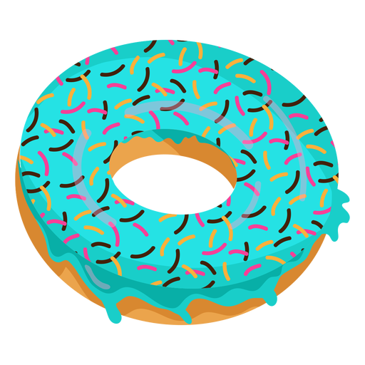 Blue donut png. Glaze doughnut illustration transparent