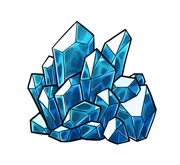 Gemstone vector crystal cluster