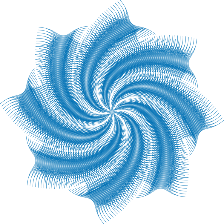 Blue drawing abstract. Art line raster graphics