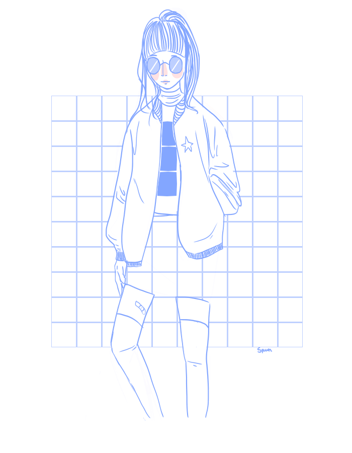 Blue drawing aesthetic. Cause is my new