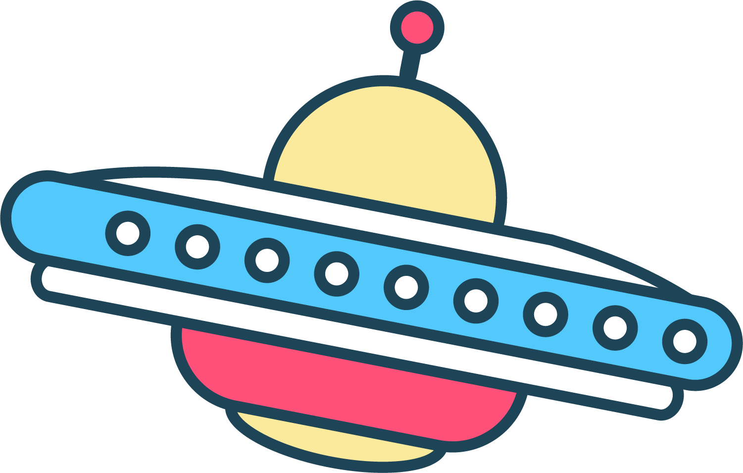 Vector ufo hand drawn. Drawing unidentified flying object