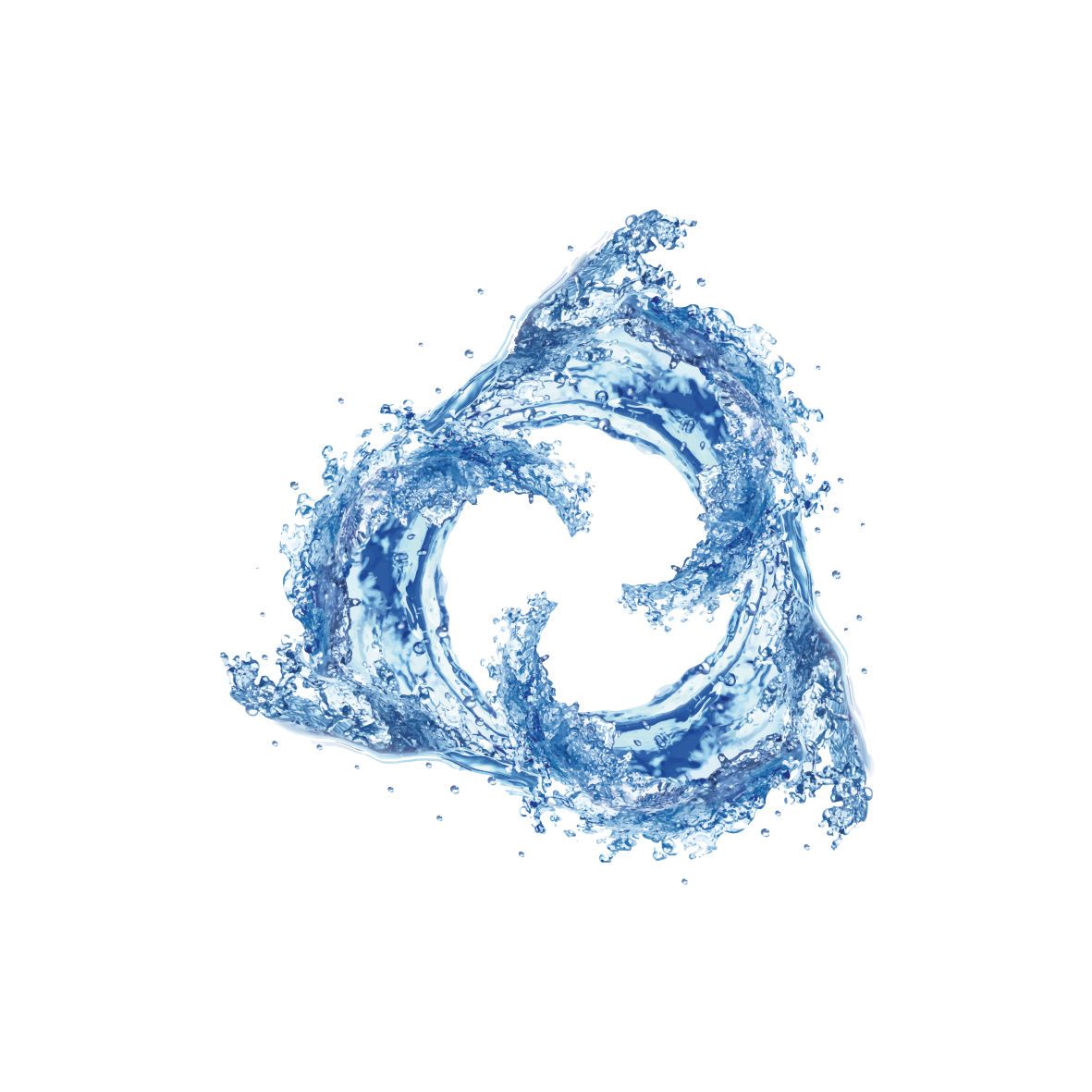 Vortex drawing blue water. Dispersion whirlpool illustration creative