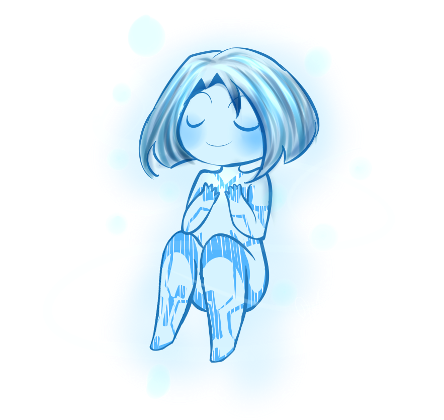 Blue drawing doodle. Little by kiichiii on