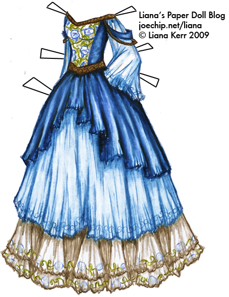 Drawing elves outfit. Morning glory blue and